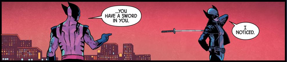Laura has a sword in her